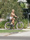 Sophie Monk Riding Bikie Bikini Top 4 image