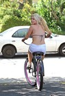 Sophie Monk Riding Bikie Bikini Top 7