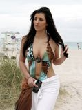 Kim Kardashian in Miami Beach with her Sister 06 image