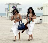 Kim Kardashian in Miami Beach with her Sister 20