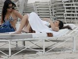 Kim Kardashian in Miami Beach with her Sister 22 image