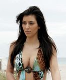 Kim Kardashian in Miami Beach with her Sister 34